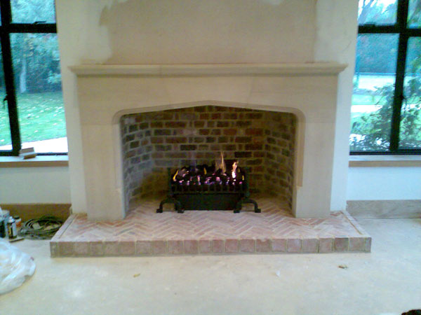 Large Tudor Fireplace Complete With Flue System In