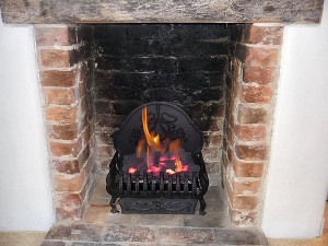 LPG gas fire installation