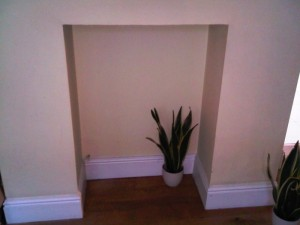 Firebelly stove installation in Wandsworth - Before
