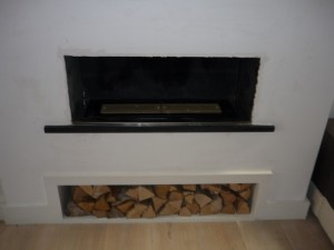 Before Brunel 2CB stove installation
