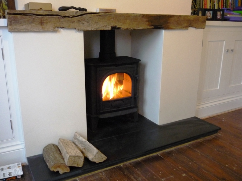 beautiful wood burning stove