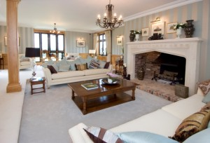 Three Magnificent Fireplaces In One House in Kent - The drawing room