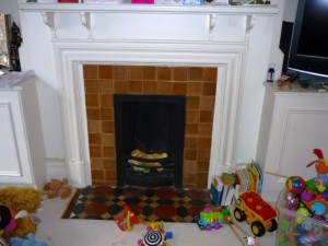 Before the new fireplace installation in Chiswick