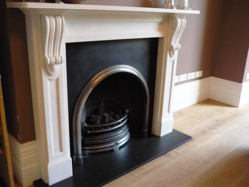 Chesneys fireplace surround and basket