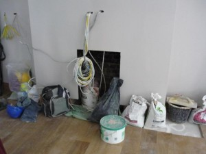 Installation of exhausto fan flue system