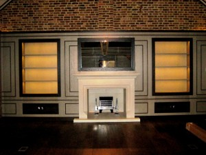 Magnificent stone fireplace in Chobham, Surrey