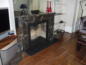 Existing fire surround before the Hampstead Stove installation