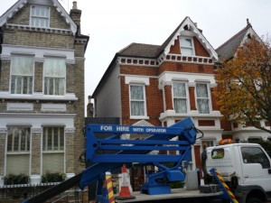 Cherry picker for the  Hampstead Stove installation