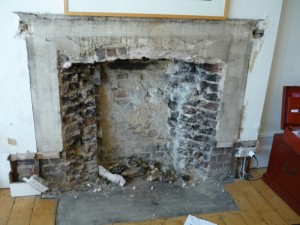 The Burlington Fireplace by Chesney's in Wimbledon (Part 1) installation