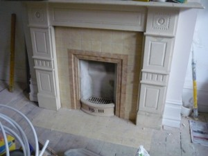 Before Fireplace Refurbishment in Wimbledon