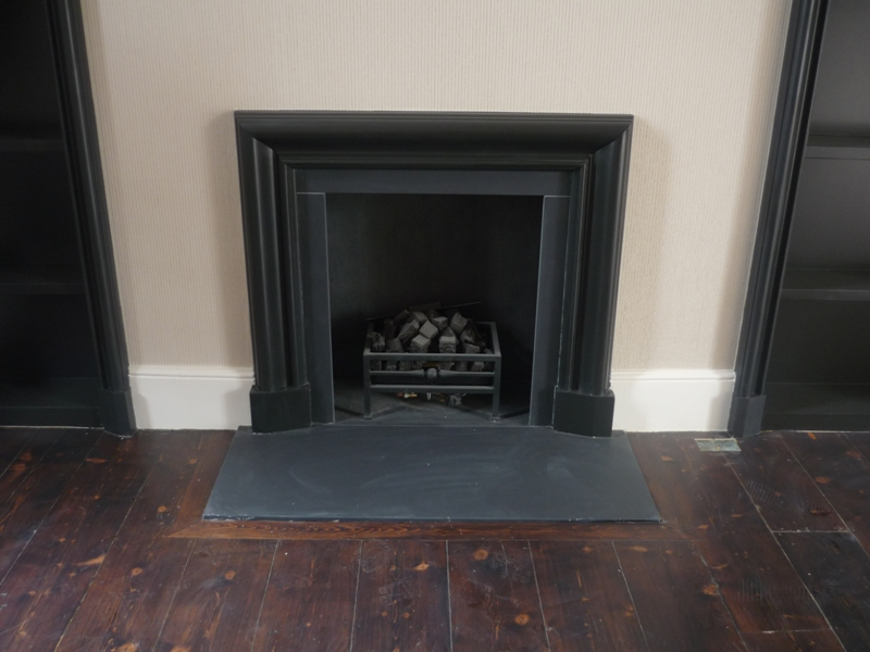 painted plaster fireplace in sw4 the billington partnership