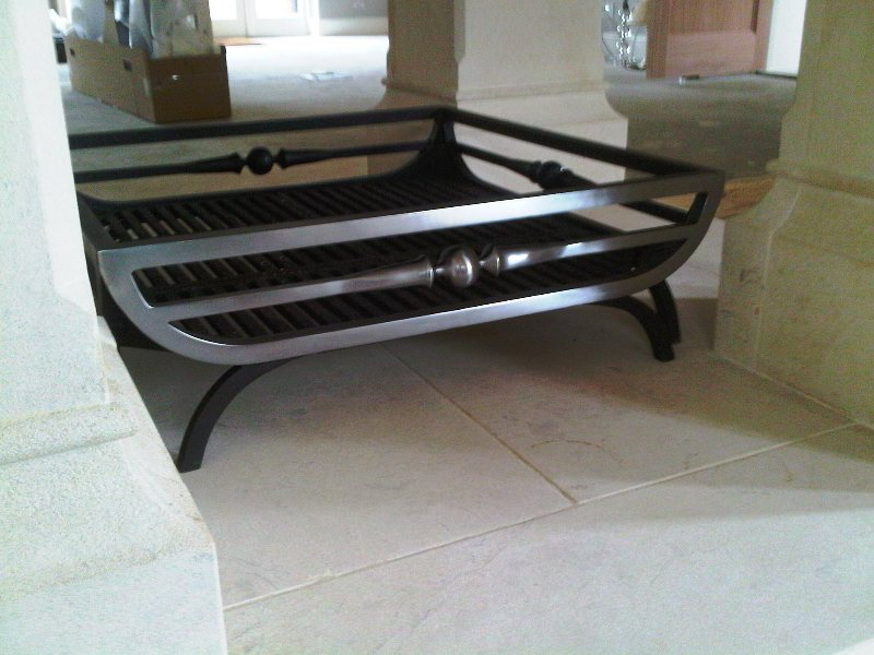 Bespoke fire basket polished steel