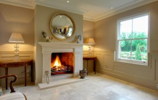 Beautiful Bathstone Fireplace in hallway