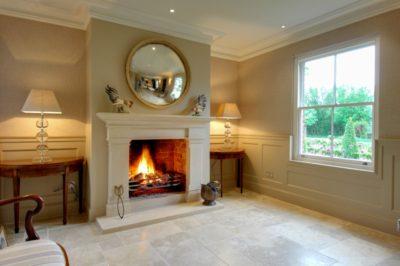 Beautiful Bathstone Fireplace in hallway