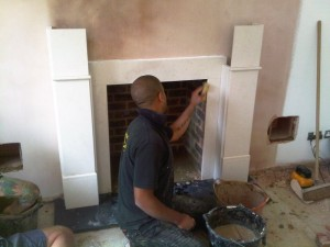 Limestone Fireplace Installation in Haslemere