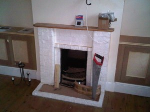 Before Stovax Open Convector Solid Fuel Fire installation