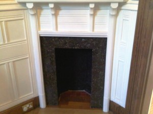 Hall fireplace before Jotul 602 stove installation