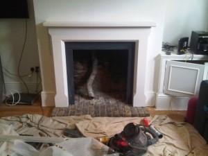 Sienna Limestone Fireplace design