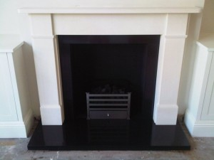Classic Victorian fireplaces by Chesneys with Amherst basket