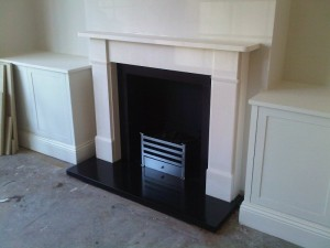Classic Victorian fireplaces by Chesneys with Amhurst basket