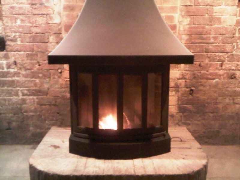 Jotul black cast iron stove