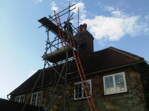 Nordpeis N25 Installation- scaffolding