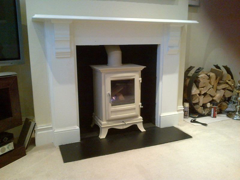 Chesneys ivory wood burning stove
