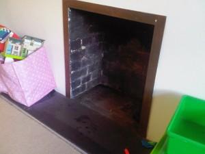 Before stockton 4 wood burning stove installation