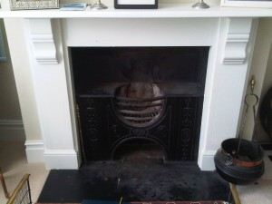 Barrington 6KW Ivory Stove from Chesney's before installation