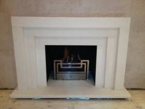 Fibonacci basket from Chesney's with stepped limestone fire surround