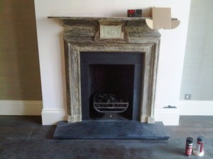 Refurbished Fireplace in Kensington with Ducks Nest basket from Chesney's