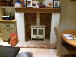 Charnwood Island II stove in Almond