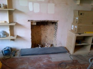 Before Classic Victorian fireplace from Chesney's installation