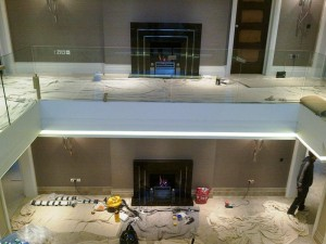 Granite Art Deco Fireplace: Hall and Landing fireplaces completed