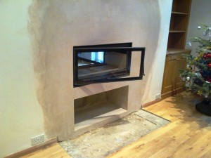 Jide Decor 16/9 Double Sided Fireplace: