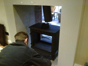 Making adjustments to Stovax Stockton 8 Double Sided Stove