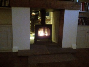 Stovax Stockton 8 Double Sided Stove being tested