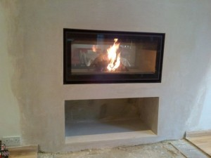 Jide Decor 16/9 Double Sided Fireplace