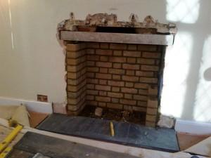 Charnwood II stove: Building brick chamber