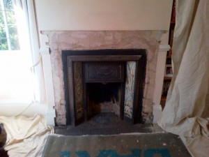 Stovax Stockton 5 Stove: Old Mantel removed
