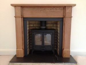 Charnwood II stove: The finished fireplace