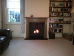 Stovax Stockton 5 Stove Installation: The finished stove