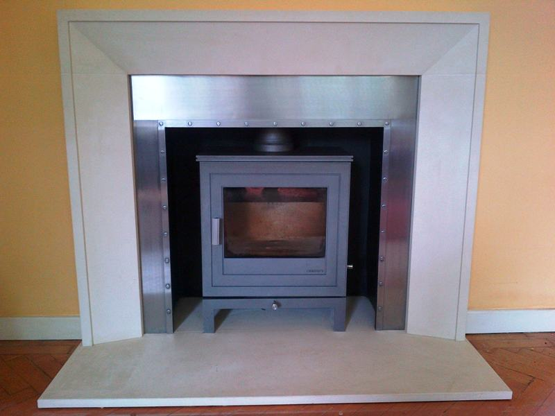 Metro fireplace with shoreditch stove