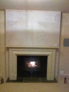 Mandor stove with Rudloe stone fireplace The Frazier