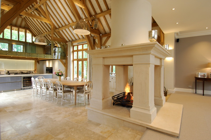 Traditional fireplaces installed by the billington partnership for Four sided fireplace