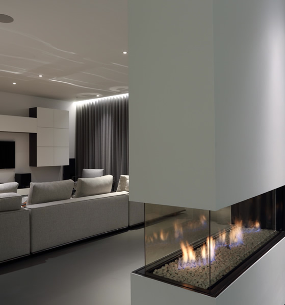 See through fireplace designs and installation