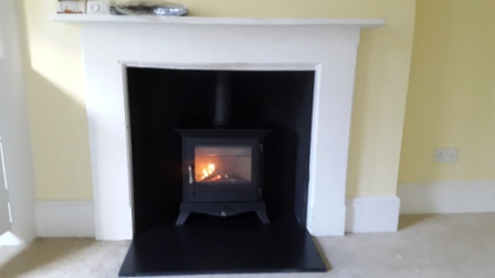Chesneys Beaumont 5kw stove in black