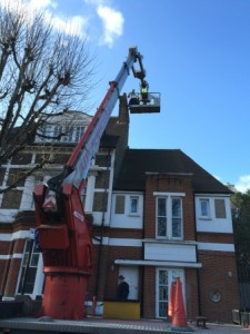 Cherrypicker in Wandsworth, London