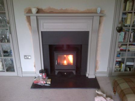 Salisbury 5kw stoves installation in Surrey