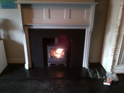 Chesneys Salisbury 5kw stoves installation in Surrey
